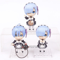 Re:Life in a different world from zero Rem Nendoroid Dolls PVC Figures Collectible Model Toys 3pcs/lot 10cm