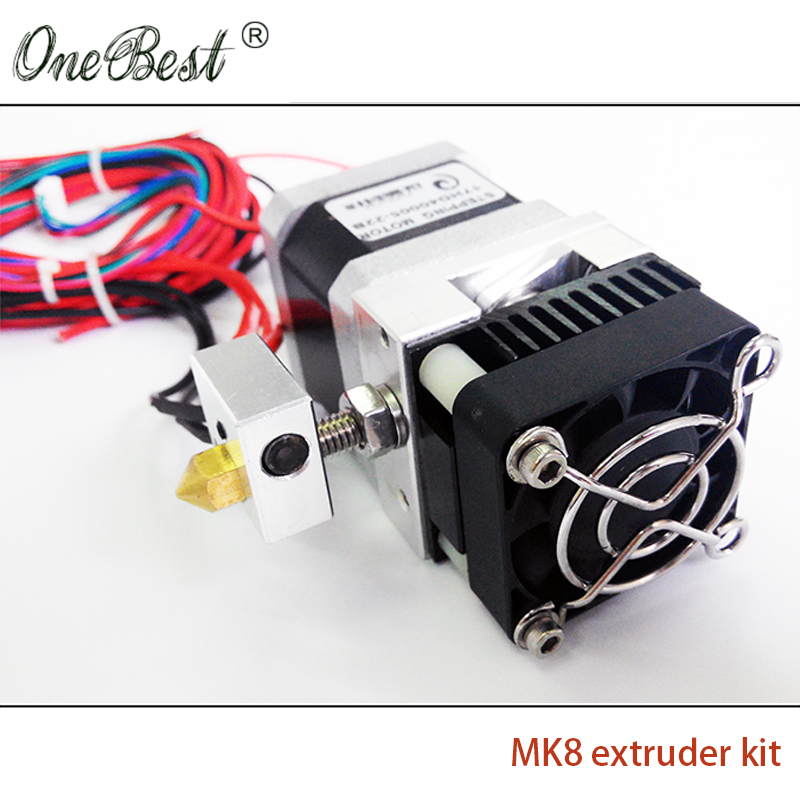 2017 Hot sale High quality Stabilize MK8 Extruder kit for Makerbot Prusa i3 3D printer Nozzle 1.75/0.4mm Free shipping mk8 extruder drive gear 5mm bore for 3mm filament reprap makerbot 3d printer