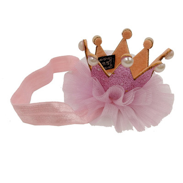 2019 Girl's Head Accessories Hairband Baby Shiny Cute Princess Children Tiara Hair Band Headband Kids Elastic Crown Headwear