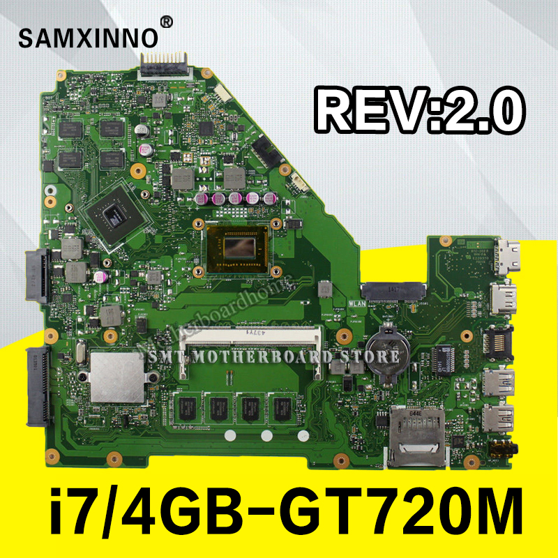X550CC Motherboard i7-4GB-GT720M for ASUS X550CL X550C R518C X552C Motherboard X550CC motherboard motherboard X550CC Tests ok цена 2017