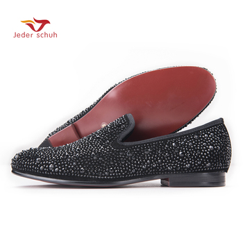 wedding and party men's shoes super star with rhinestones Upper material Carrefour flats slippers smoking  free shipping