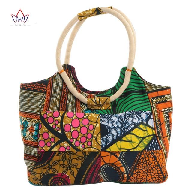 2017 Super Wax Fabrics Handbags For Women African Style Hand Bag 100 Cotton Material