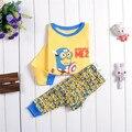 6set/lot New Despicable Me Suits Boys minion Pajamas Baby Cartoon Pyjamas Pijamas Children's Clothing sets Kids Sleepwears