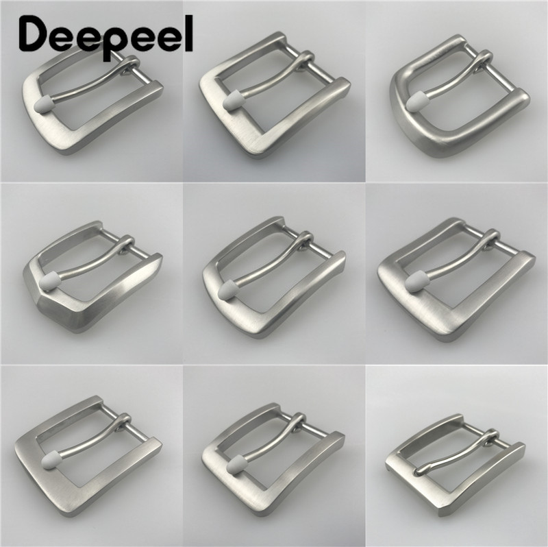 Deepeel 40mm Stainless Steel Leather Pin Belt Buckle Head High-quality For Men Casual 37-39mm Belt Decor Buckle DIYHardwareCraft