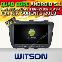 WITSON Android 5.1 CAR DVD GPS for KIA SORENTO 2013 CAR RADIO GPS Capacitive touch screen Cortex A9 Qual-core1.6G 16GB Rom GIFT
