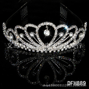 Wedding Crystal Tiara Crown Queen Women Bridal Hair Jewelry Ornaments Bride Accessories Diadem Mariage Headpiece Headband цена 2017