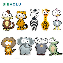 Cartoon Forest Animals Soft plastic silicone fridge magnets whiteboard Refrigerator Magnets Kids Message post Home Decoration