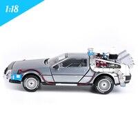 1:18 литой модели автомобилей Arabalar Dmc 12 Delorean время Назад в будущее автомобилей игрушки металла модели автомобиля для детей Коллекция игрушек