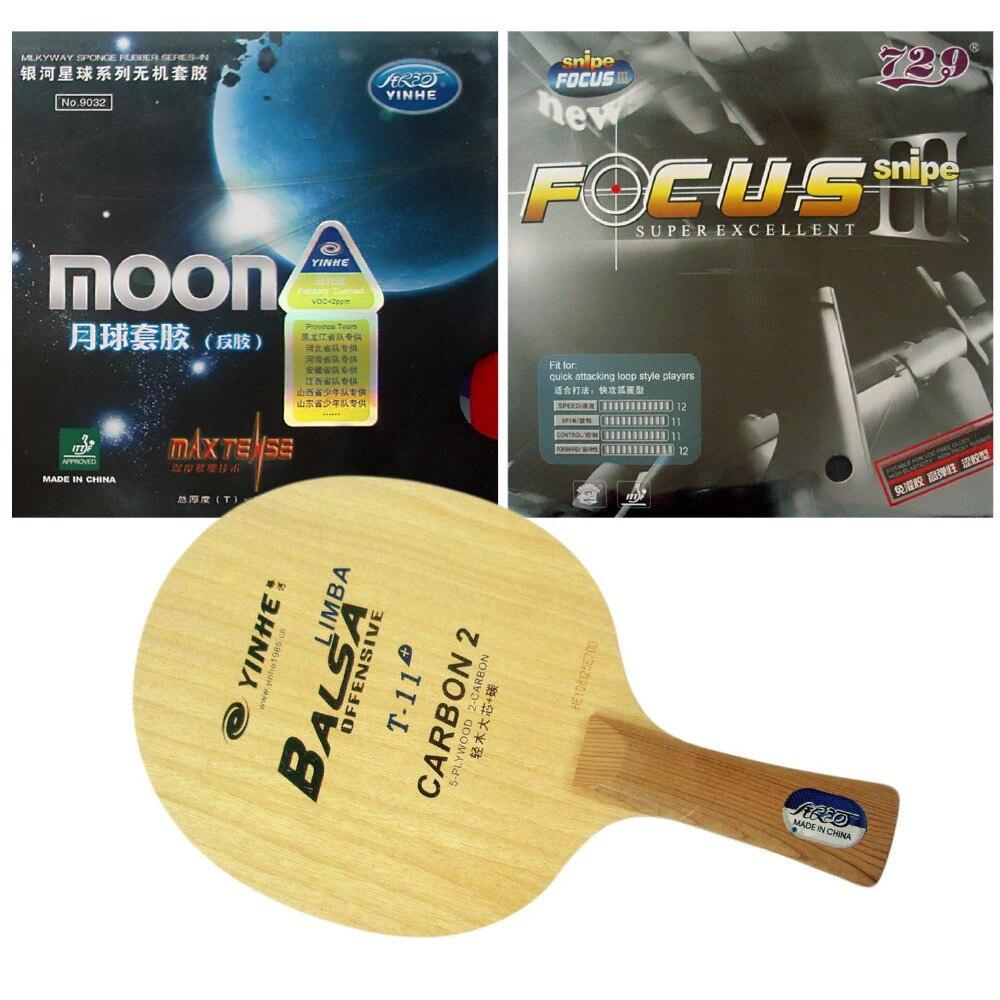 ФОТО Pro Table Tennis Combo Racket: Galaxy YINHE T-11+ with  Moon Max Tense (Factory Tuned)/ RITC 729 FOCUS III (FOCUS3) Snipe