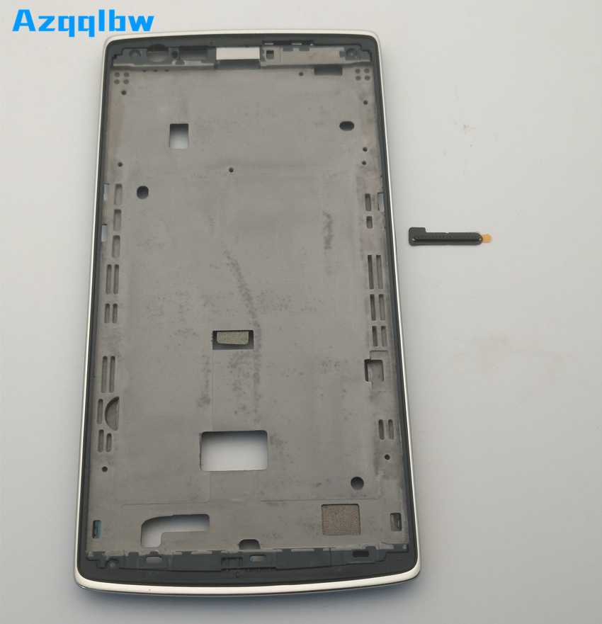 Azqqlbw   For Oneplus One 1+ A0001 With 3M Adhesive  Front Housing Middle Frame Plate For One Plus One 1+ A0001 Middle Frame