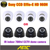 700tvl HD 960H Genuine 1 3 Sony CCD Effio E 24leds IR Indoor Security CCTV Dome