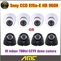 700tvl HD 960H Genuine 1 3 Sony CCD Effio E 24leds IR Indoor Security CCTV Dome