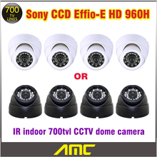 4 PCS CCTV Dome Camera 700tvl CCD Sony CCTV Camera 24leds IR Indoor Home Surveillance System Security Camera System Sony