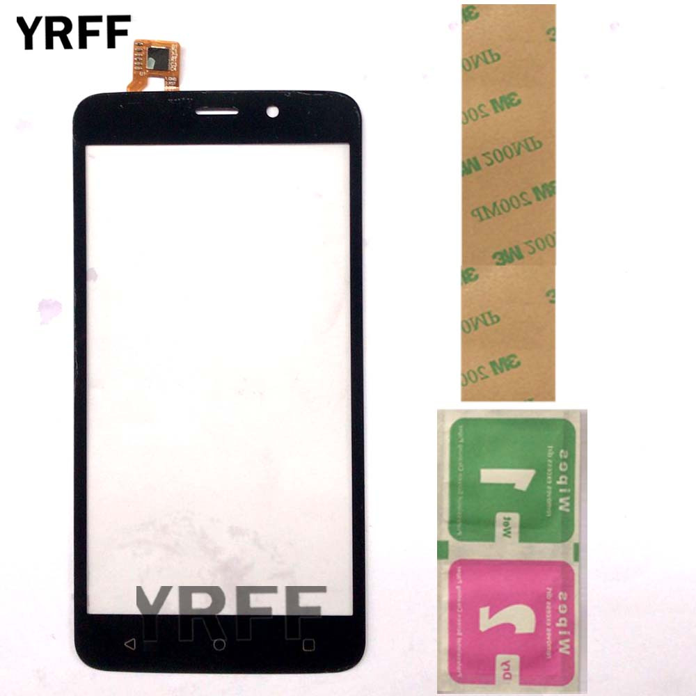 Touch Screen Panel Lens Sensor For Fly FS509 FS 509 Nimbus 9 Touch Screen Digitizer Front Glass Phone Replacement 3M Glue Wipes