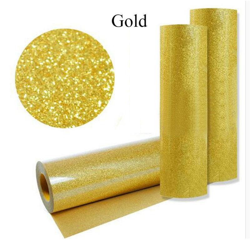 Gold Pu Heat Transfer Vinyl Iron On Fabric T Shirt Press