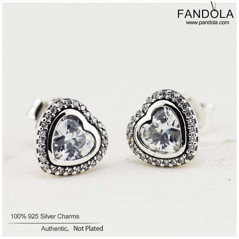 Promotion 925 Sterling Silver Sparkling Love Clear CZ Heart Stud Earrings For Women Fine Jewelry Making Sterling-Silver-JewelryPromotion 925 Sterling Silver Sparkling Love Clear CZ Heart Stud Earrings For Women Fine Jewelry Making Sterling-Silver-Jewelry