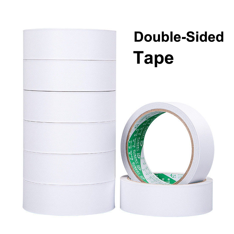 10M Double Sided Adhesive Face Tape Deco Stationery Store School Thing Office Supply Material Bts Scrapbooking Stationary Item