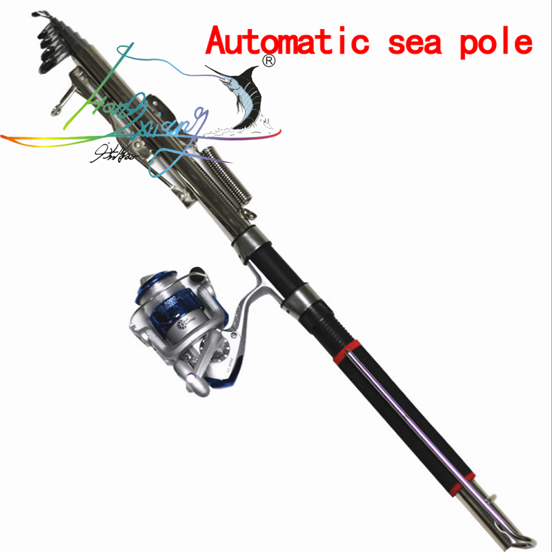 Automatic Fishing Rod High Quality Fish Pole 1.8M 2.1m 2.4m 2.7m Sea River Lake Stainless Steel Fishing Rod spinning telescopic