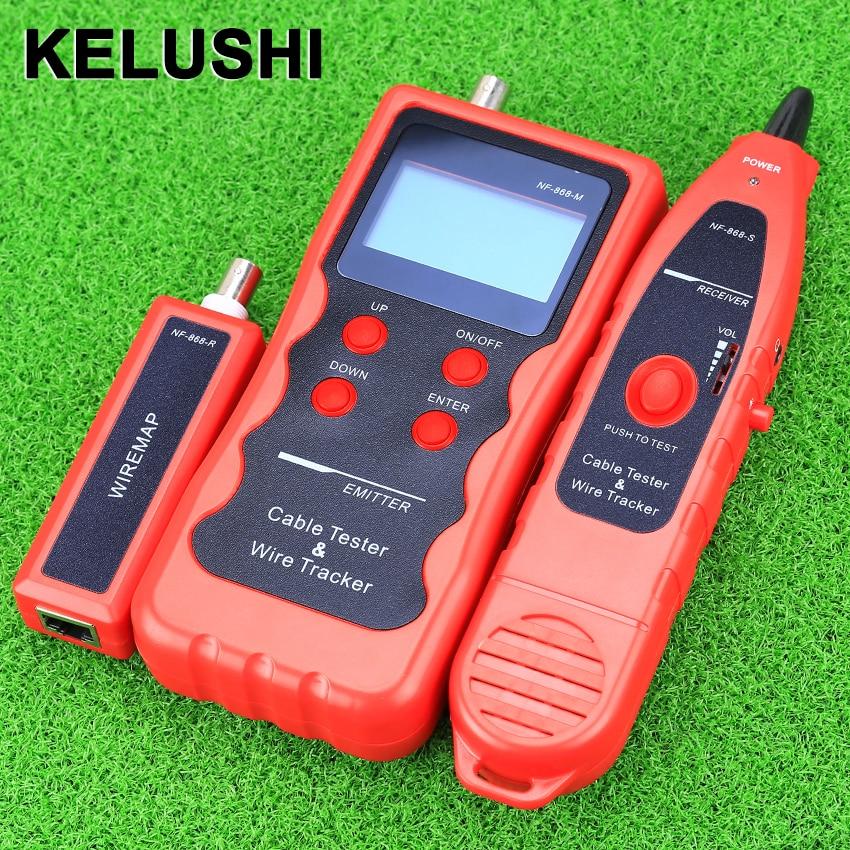 Здесь продается  KELUSHI NF-868 Network LAN Phone Tester Wire Tracker USB Coaxial Cable Tester (Range 1200m) - Red  Компьютер & сеть