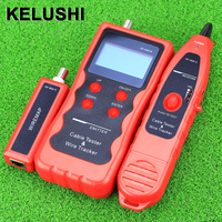 KELUSHI NF 868 Network LAN Phone Tester Wire Tracker USB Coaxial Cable Tester (Range 1200m) Red