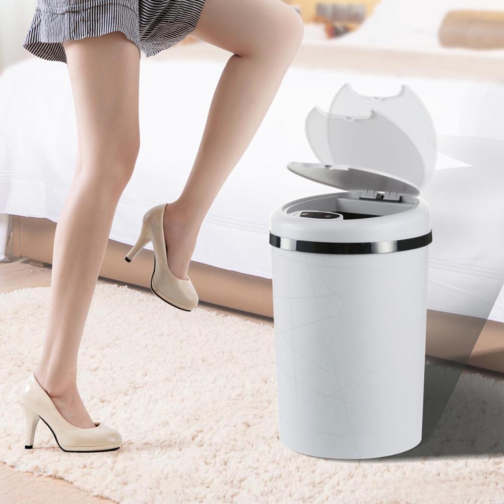 Large Automatic Sensor Dustbin Sensor Trash Can Induction Waste  Bin PP Plastic Eco friendly Dustbin Household Trash BinWaste Bins   -