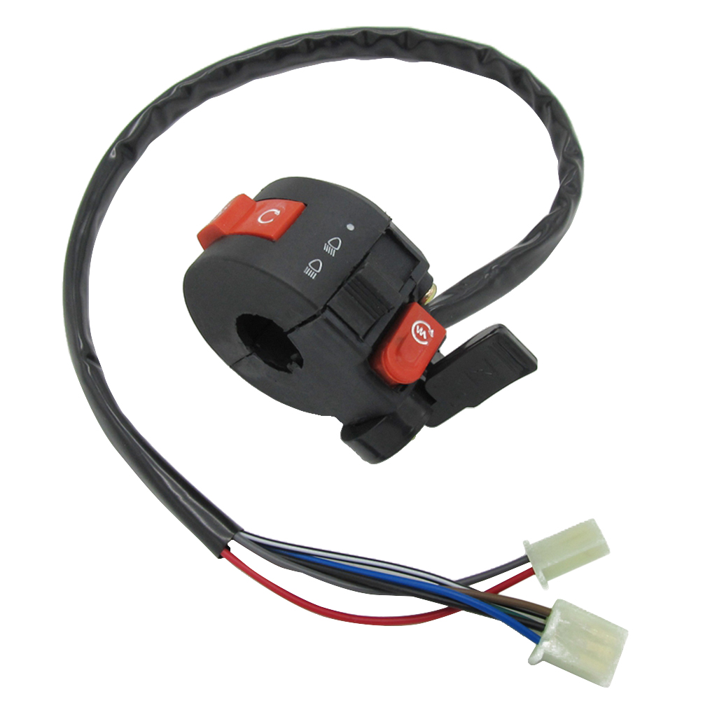 22mm Handlebar Control Left Switch 7 Wire Connection Vehicle ATV Parts For 50cc 70cc 90cc 110cc 125cc ATV Quad