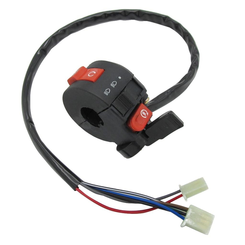 22mm Handlebar Control Left Switch 7 Wire Connection Vehicle ATV Parts For 50cc 70cc 90cc 110cc 125cc ATV Quad