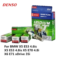 4pieces/set DENSO Car Spark Plug For BMW X5 E53 4.6is X5 E53 4.8is X5 E70 4.8i X6 E71 xDrive 35i Iridium Platinum IK20TT