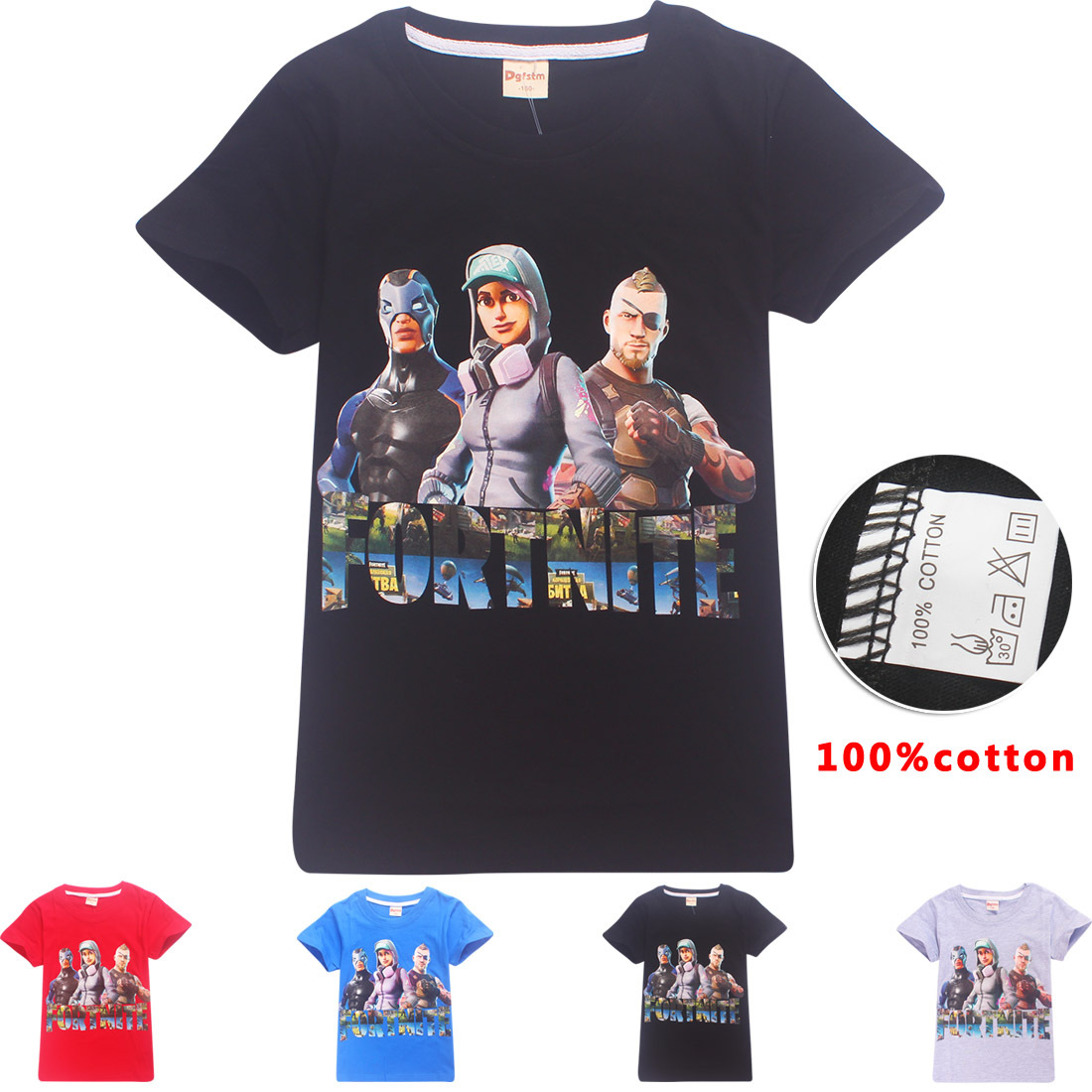 Fortnite Battle Royale Legend Gaming Pattern T-shirts for teens boys tops 2018 Roblox girls kids t shirts clothes 10 11 12 year