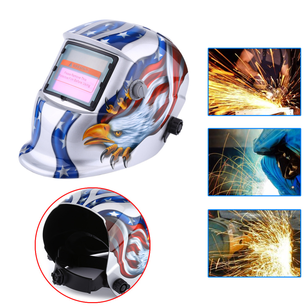 Auto Welding Mask Darkening Solar Welding Helmet ARC TIG MIG Weld Welder Grinding Masks Eagle Pattern Electric Welding Equipment  цены