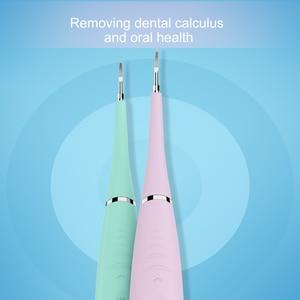 Image 2 - מקצועי 5 מצבים חשמלי סקלר שיניים סוניק סיליקון מנקה שיניים נטענת USB שן תחשיב מסיר כתמי אבנית