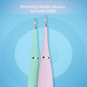 Image 2 - Escalador Dental eléctrico profesional, 5 modos, limpiador Dental sónico de silicona, recargable por USB, eliminador de manchas de sarro