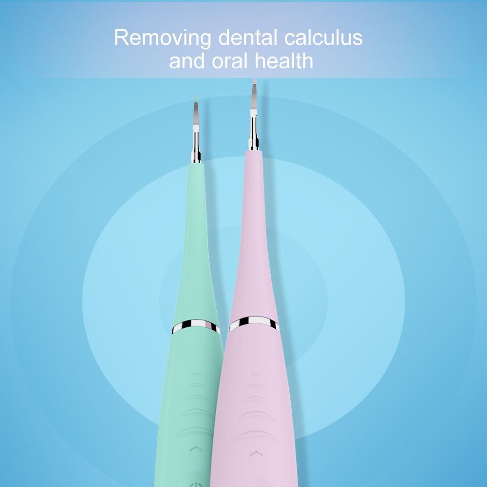 Professional 5 Modes Electric Dental Scaler Sonic Silicone Tooth Cleaner Rechargeable USB Tooth Calculus Remover Stains Tartar