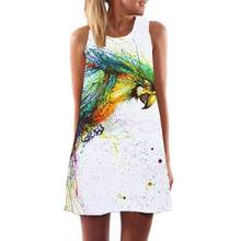 (Ship from US) HOT Sale Lady Casual Mini Dress Summer Women Fashion Boho  Floral Printed Dresses Party Female Sexy Sleeveless Sundress  LH f87d1bfd90fb