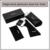 Fonex nueva moda fresca de los hombres cuadrados de gran tamaño gafas de sol sin montura mujeres titanium polarizadas gafas de sol uv400 f20001 peso 9g