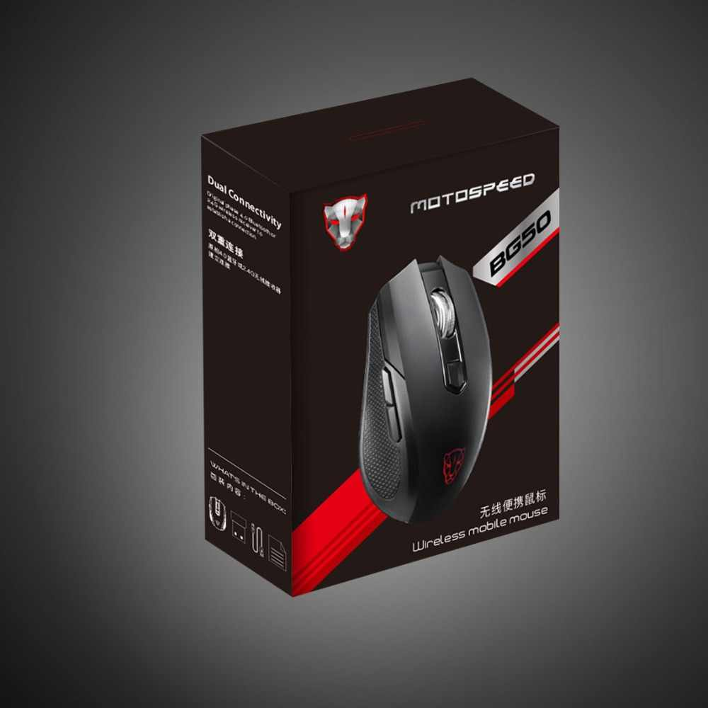 MOTOSPEEDBG50 Bluetooth ワイヤレスゲーミングマウス 2400DPI 光エルゴノミックプロフェッショナルポータブル Usb マウスゲーマーコンピュータ Pc のラップトップ