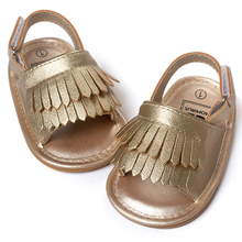 ROMIRUS Baby Shoes Сандалии Повседневная Мода PU Кисточкой Сандалии Для Детей дети Девушки Парни-Золото