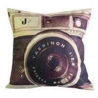 10Pcs Set 45x45cm 17 7 X17 7 3D Printing Vintage Camera Pillow Cover Soft Cushion Cover