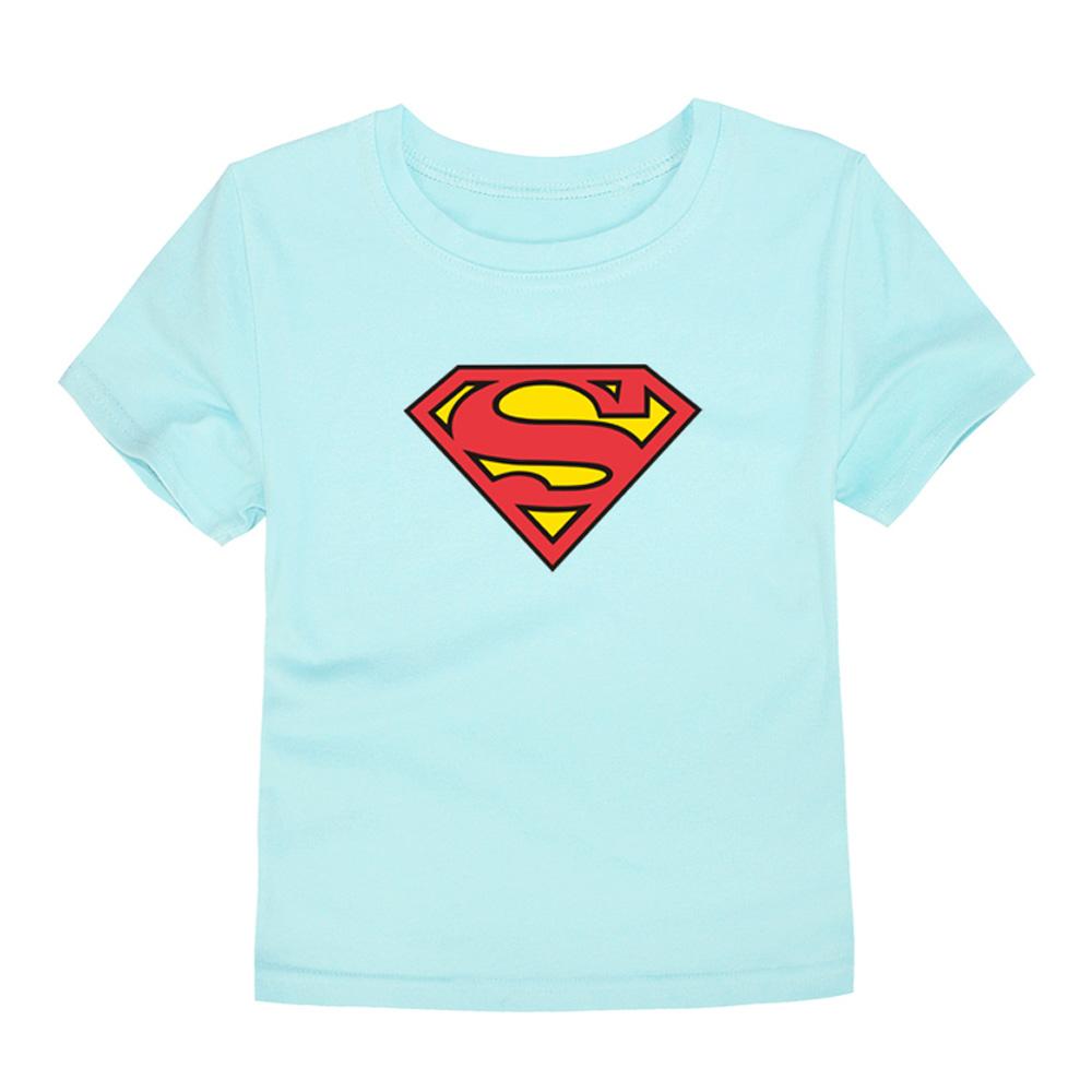 HTB1mBiSQVXXXXXIXXXXq6xXFXXXg - TINOLULING 2018 Kids Superman T-Shirt Boys Girls Batman T Shirt Children Tops Baby Tees For 2-14 Years