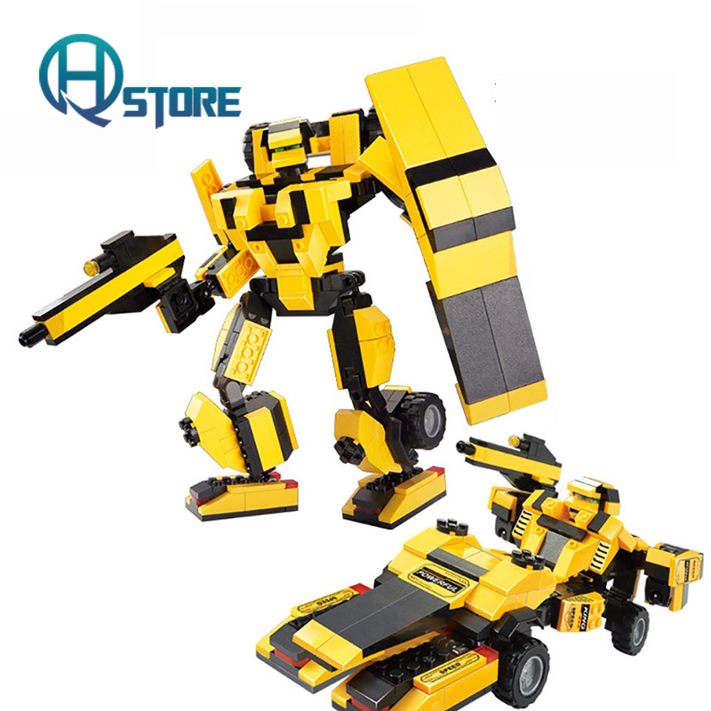 Building Blocks Sluban Plastic Bumblebee ABS Child Compatible with Legoelieds 256 transformers маска bumblebee c1331