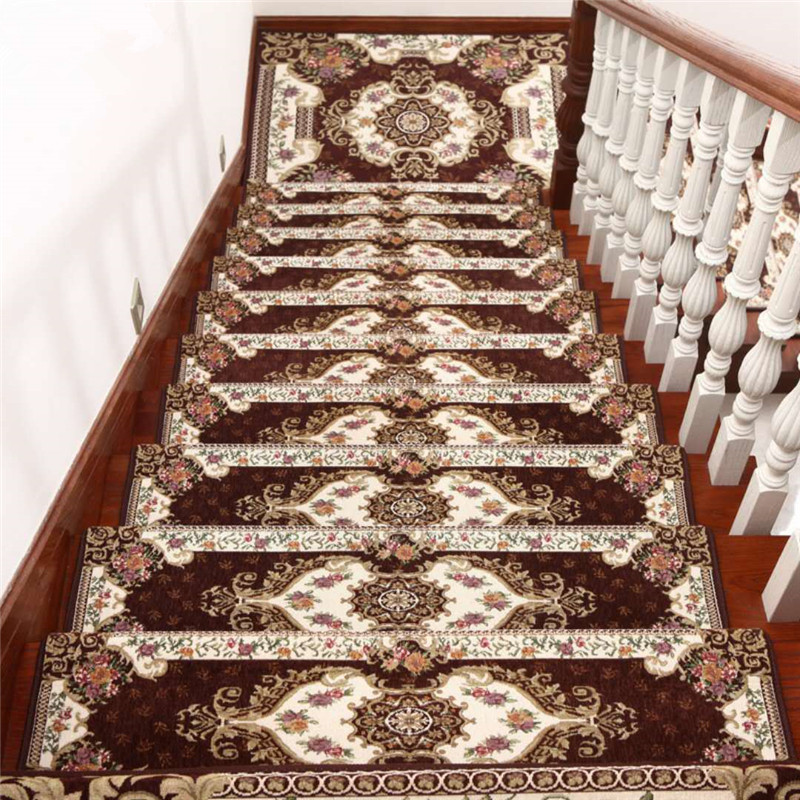 Rugs And Carpets For Home Decoration Stair Mat Glue-free Self-adhesive Solid Wood Non-slip Mats Hallway Carpet Step Mat