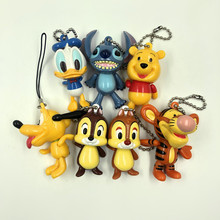 Donald Duck Stitch Winnie the Pooher Goofy Dog Squirrel Brothers Jumping Tiger Cute Bags Small Pendant Doll Toys
