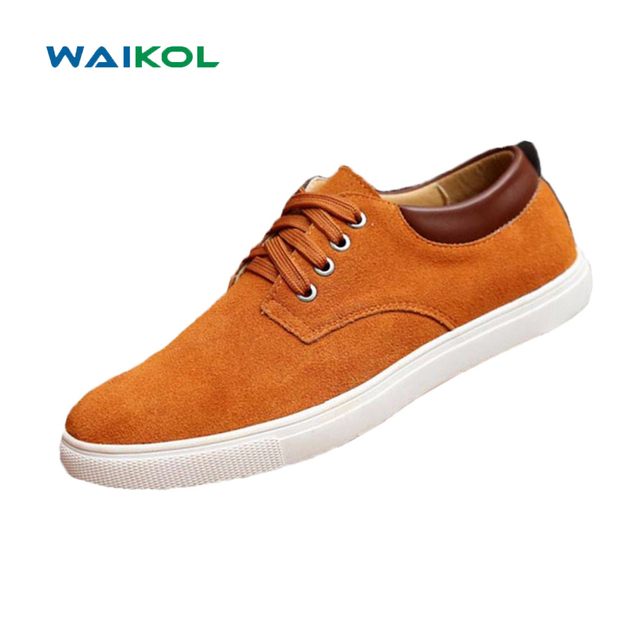 Waikol 30% OFF Big Size 39-49 Brand Solid Color Men Breathable Outdoor Casual Canvas Men's Shoes