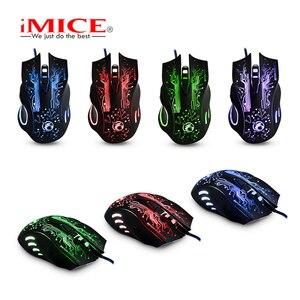 Image 3 - IMice X9 Gaming Maus Verdrahtete Computer Maus USB Stille Gamer Mäuse 5000 DPI PC Mause 6 Taste Ergonomische Magie Spiel mäuse für Laptop