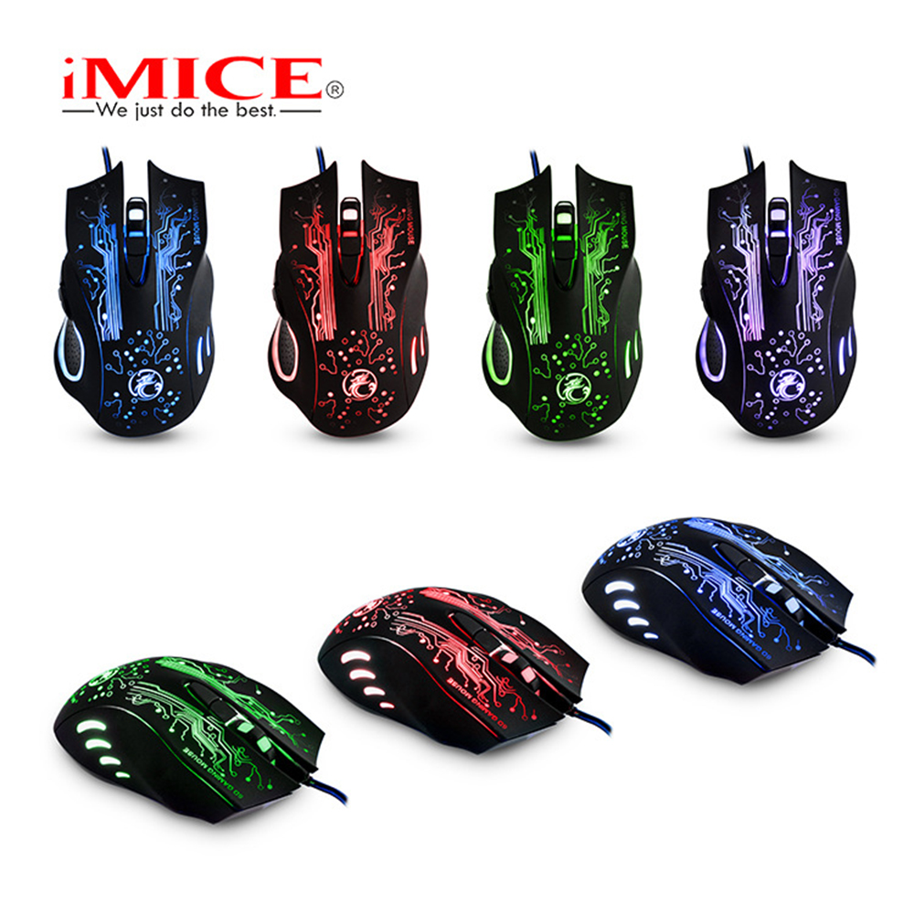 Image 3 - iMice X9 Gaming Mouse Wired Computer Mouse USB Silent Gamer Mice 5000 DPI PC Mause 6 Button Ergonomic Magic Game Mice for Laptop-in Mice from Computer & Office