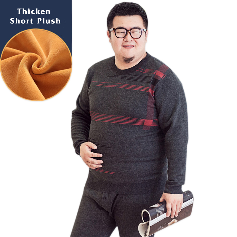 130 kg hiver sous-vêtement thermique hommes pyjamas ensembles grande taille mode épaissir garder au chaud pyjamas 5xl manches longues longues johns pour homme