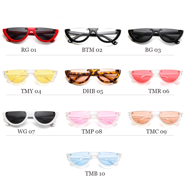 b74235d5b5 Cool Trendy Half Frame Rimless Cat Eye Sunglasses Women Fashion Clear Brand  Designer