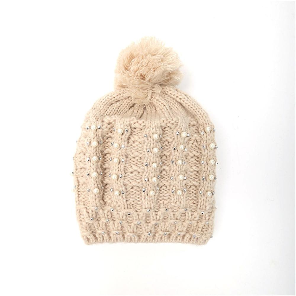 Casual gorras mujer sombreros de invierno gorro de lana de tejer ...