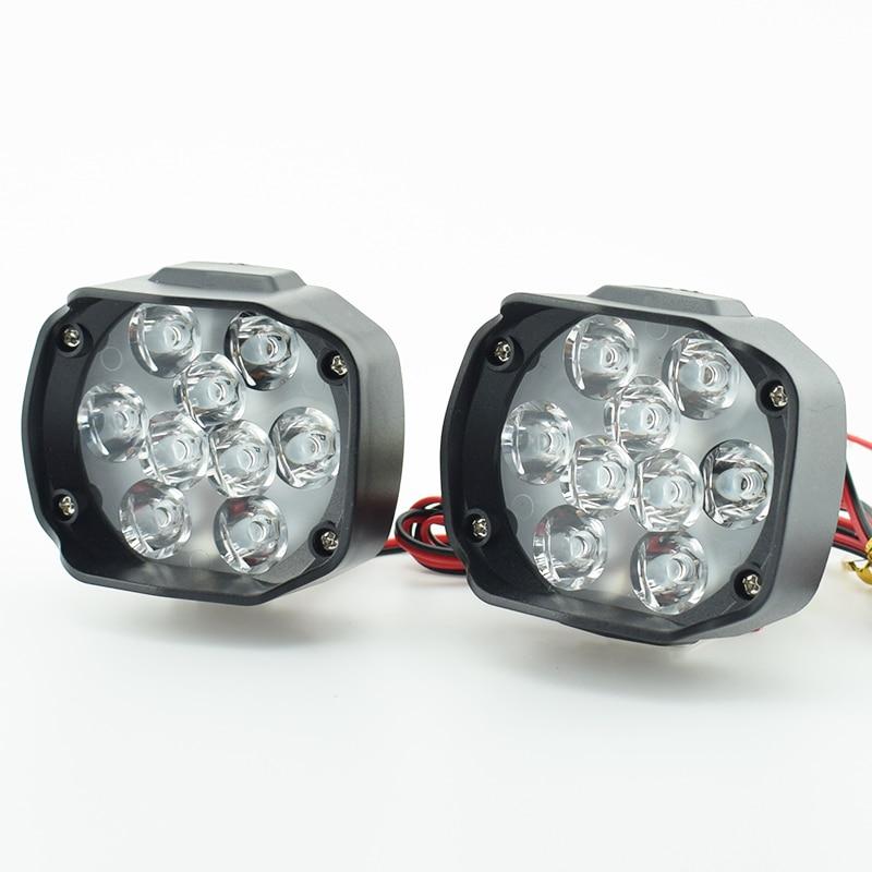 Motorcycle LED Headlight Car Headlamp Scooter Moto Fog Spotlight 12V LED 6500K White Motorbike Working Spot Light Head Lamp DRL