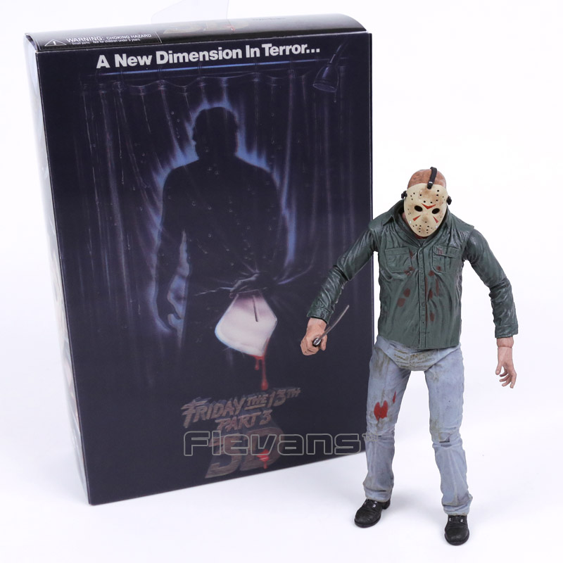 ФОТО NECA Friday the 13th Part 3 3D Jason Voorhees PVC Action Figure Collectible Model Toy 18cm